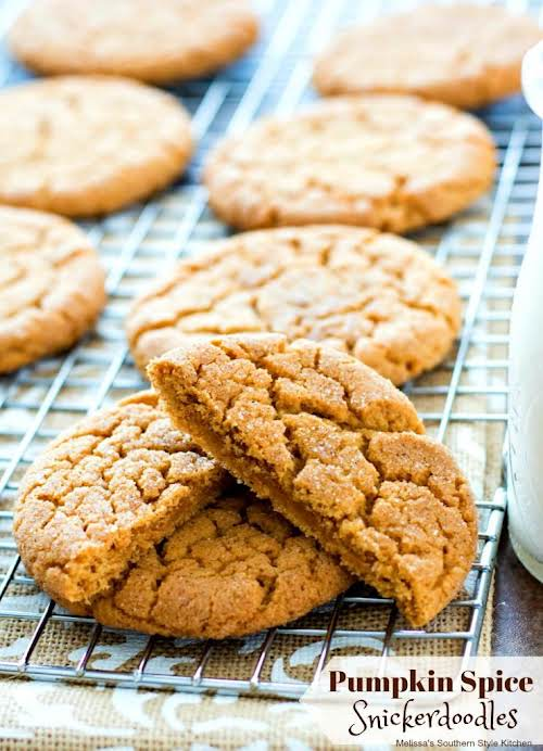 """Pumpkin Spice Snickerdoodles """"Fans of pumpkin and cookies will flip for this..."""