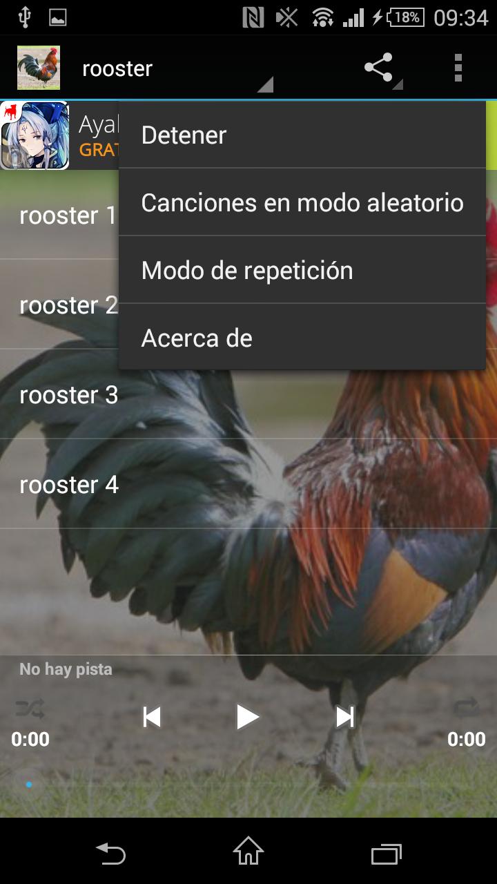 Скриншот Sonidos del gallo gratis
