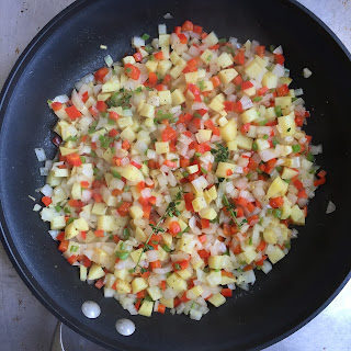 Drought Friendly Tofu Potato Migas