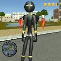 Stickman Panther jetpack Crime Simulator icon