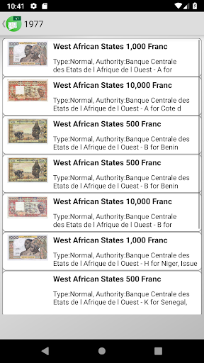 Screenshot for Banknotes of West African States in United States Play Store