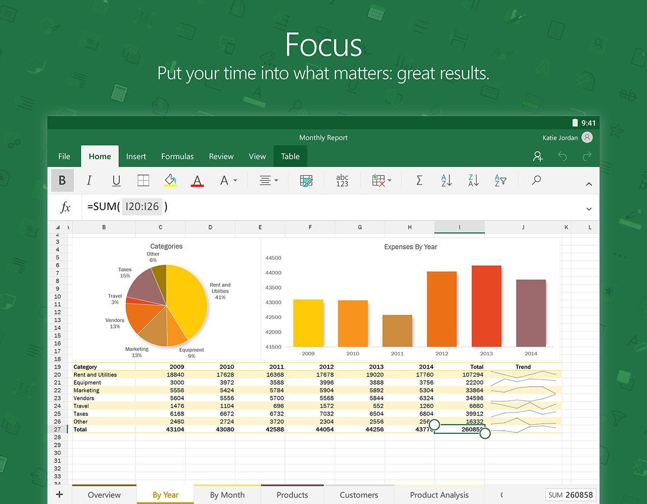 Microsoft Excel screenshot #13