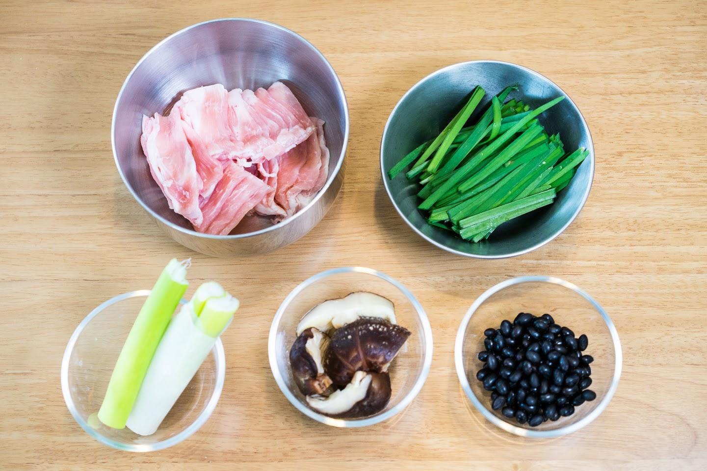 黒千石レシピ:黒千石肉まん・材料