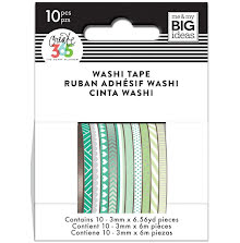 Me & My Big Ideas Happy Planner Skinny Washi Tape - Green Hues