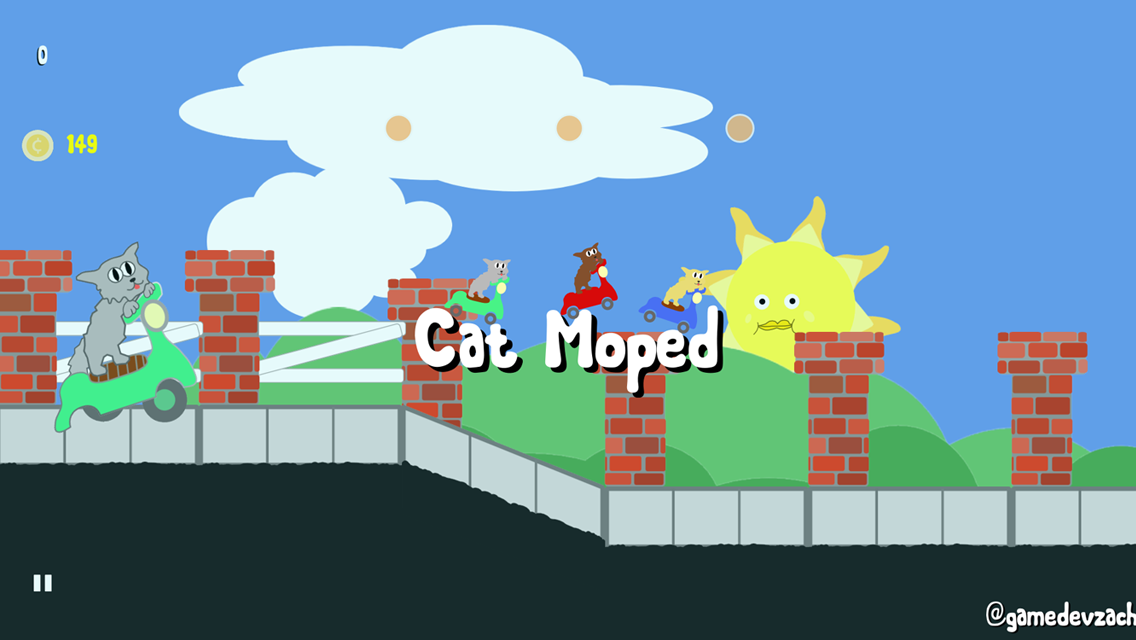 Cat Moped- screenshot