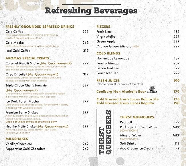 Aromas Cafe menu 7