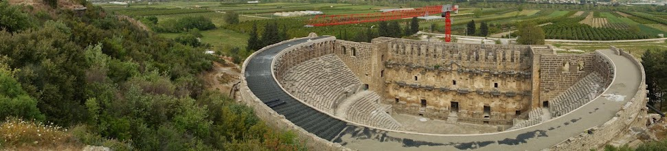 Photo: The theatre at Aspendos is currently being rennovated into an active venue