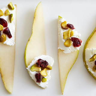 Pears With Goat Cheese & Pistachios