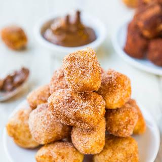 One-Hour Chocolate and Cinnamon-Sugar Soft Pretzel Bites.