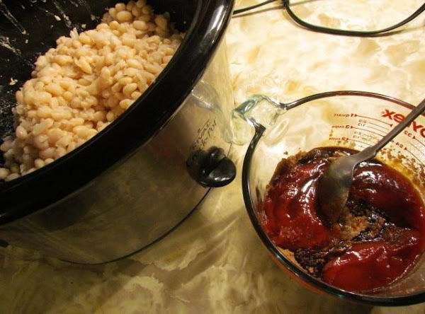 Rinse and drain your navy beans and add with fresh water in a large...