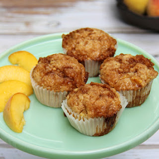 Peaches and Cream Oatmeal Muffins