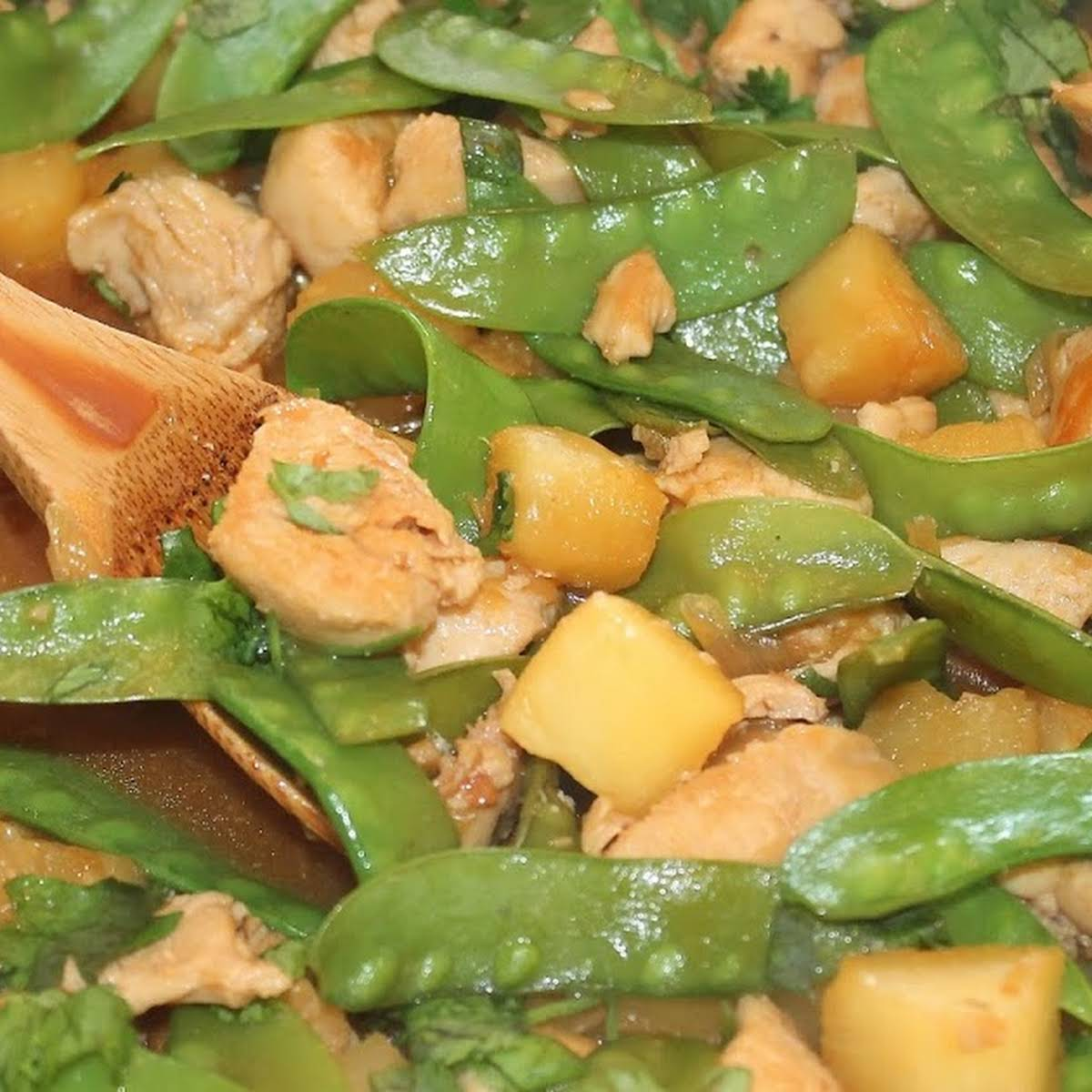 Pineapple Chicken And Snow Peas