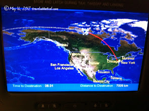 Photo: On board flight info - Dulles to Narita.