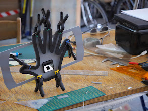 Photo: Gluing the plastic parts of the optical sensor