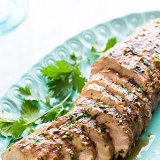 Grilled Ginger Sesame Pork Tenderloin.