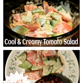 Cool and Creamy Tomato Salad