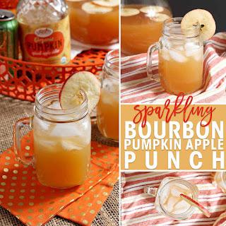 Sparkling Bourbon Apple Pumpkin Punch.