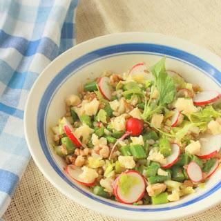 Cheddar and Barley Salad with Walnuts