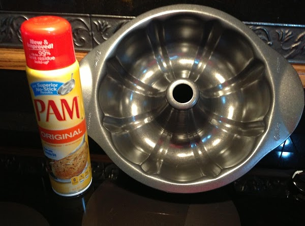 Set oven at 350 degrees.  Grease and flour a 12 cup Bundt pan,...