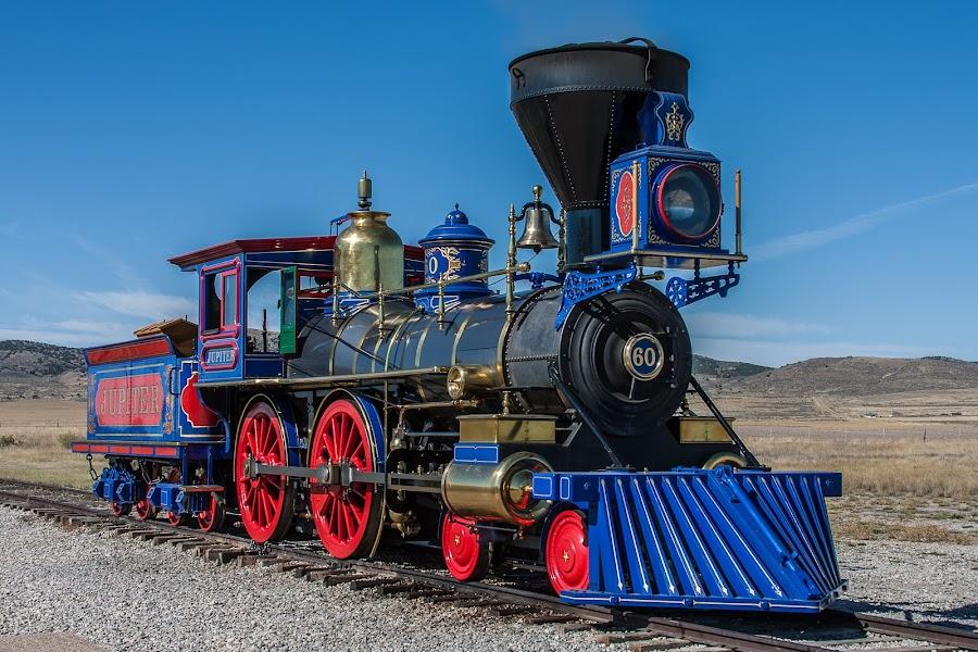 Jupiter by Craig Pifer - Transportation Trains ( golden spike national historic site, promontory, utah, railroad, train, jupiter, transportation, golden spike )