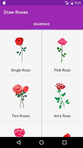 玩免費遊戲APP|下載Draw Roses Step By Step app不用錢|硬是要APP