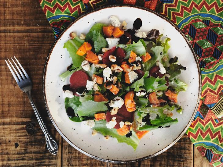 Roasted Butternut Squash Salad with Vegan Feta Cheese Recipe