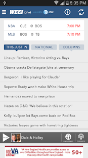 WEEI Live- screenshot thumbnail