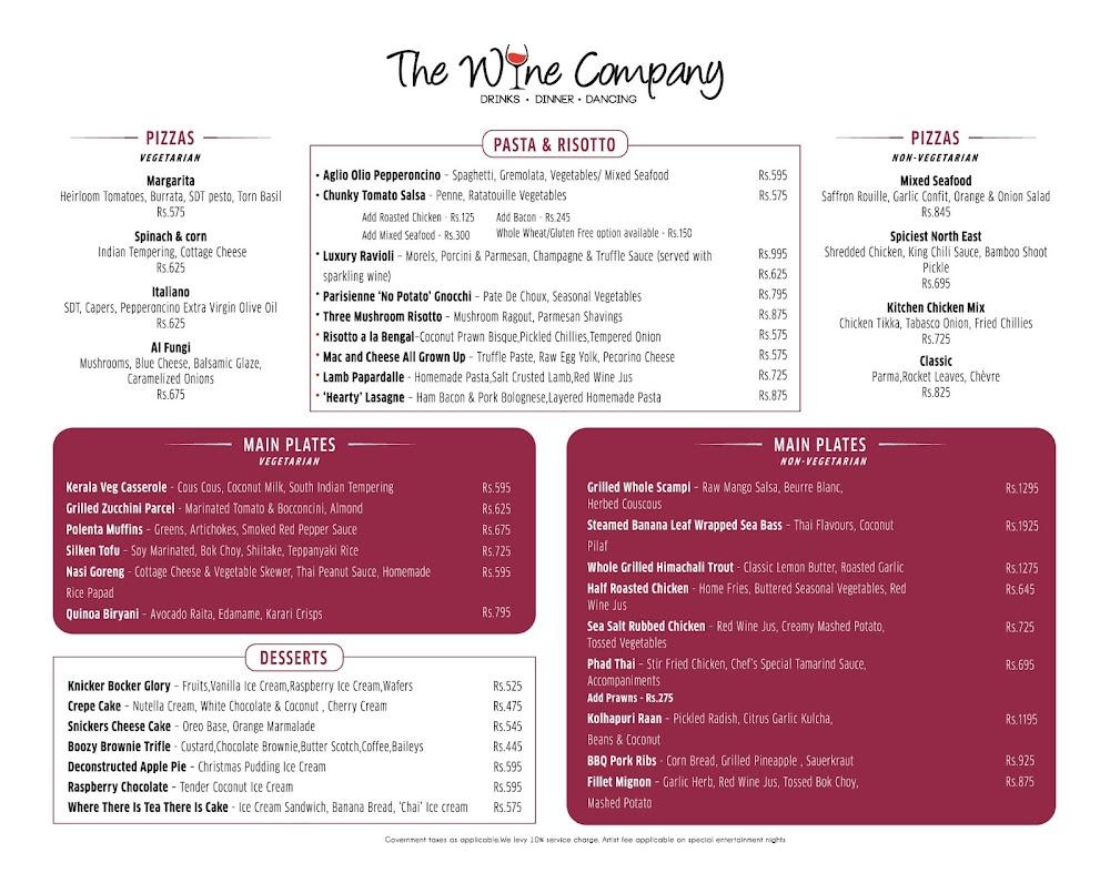 The Wine Company menu 4