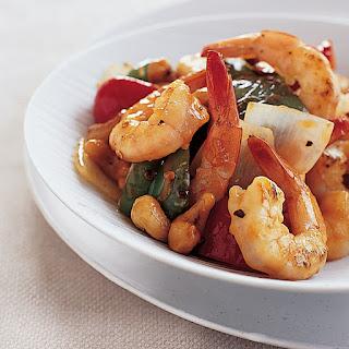 Kung Pao Shrimp with Cashews.