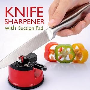 Set 2 x ascutitor cutite, ventuza de prindere, Knife Sharpener