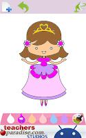 Screenshot of Princess Kids Coloring Book