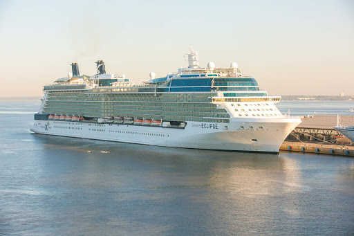 Celebrity Eclipse docked in St. Petersburg, Russia.
