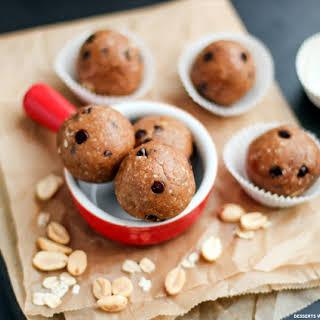 Healthy Chocolate Chip Peanut Butter Cookie Dough Energy Bites (sugar free/low sugar, gluten free, vegan).