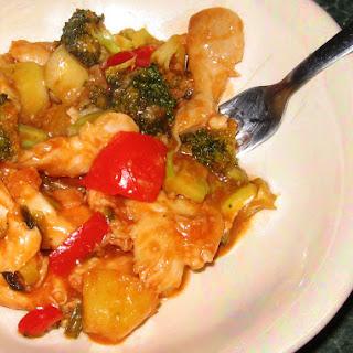 Sweet & Sour Chicken Stir Fry.