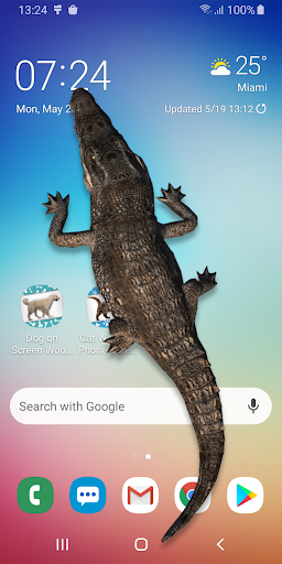 Crocodile in Phone Big Joke: capturas de pantalla de iCrocodile 4