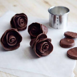 Dark Chocolate Taffy Flowers.