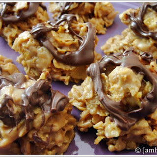Peanut Butter Cornflake Clusters