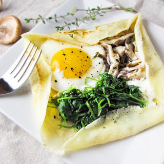 Savory Mushroom and Goat Cheese Crepes Recipe