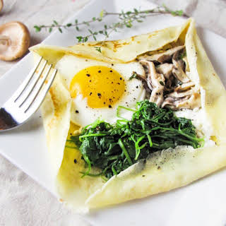 Savory Mushroom and Goat Cheese Crepes.