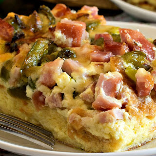 Ham and Cheese Breakfast Casserole.