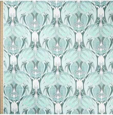 Katherine Noveau Emberton Linen in Jade från Liberty Interior Fabrics