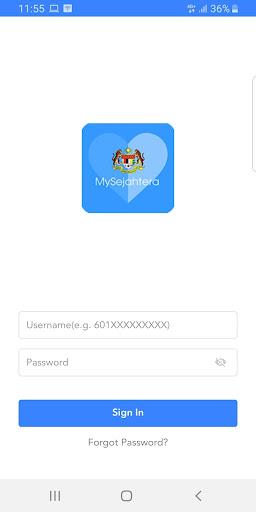 MySejahtera 1.0.2 screenshots 2
