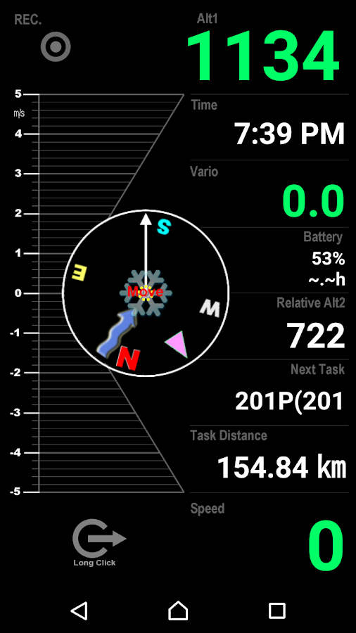 Variometer-Sky Land Tracker- screenshot