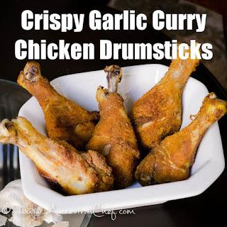 Paleo Crispy Garlic Curry Chicken Drumsticks.