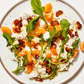 Ricotta and Clementines with Date Vinaigrette.