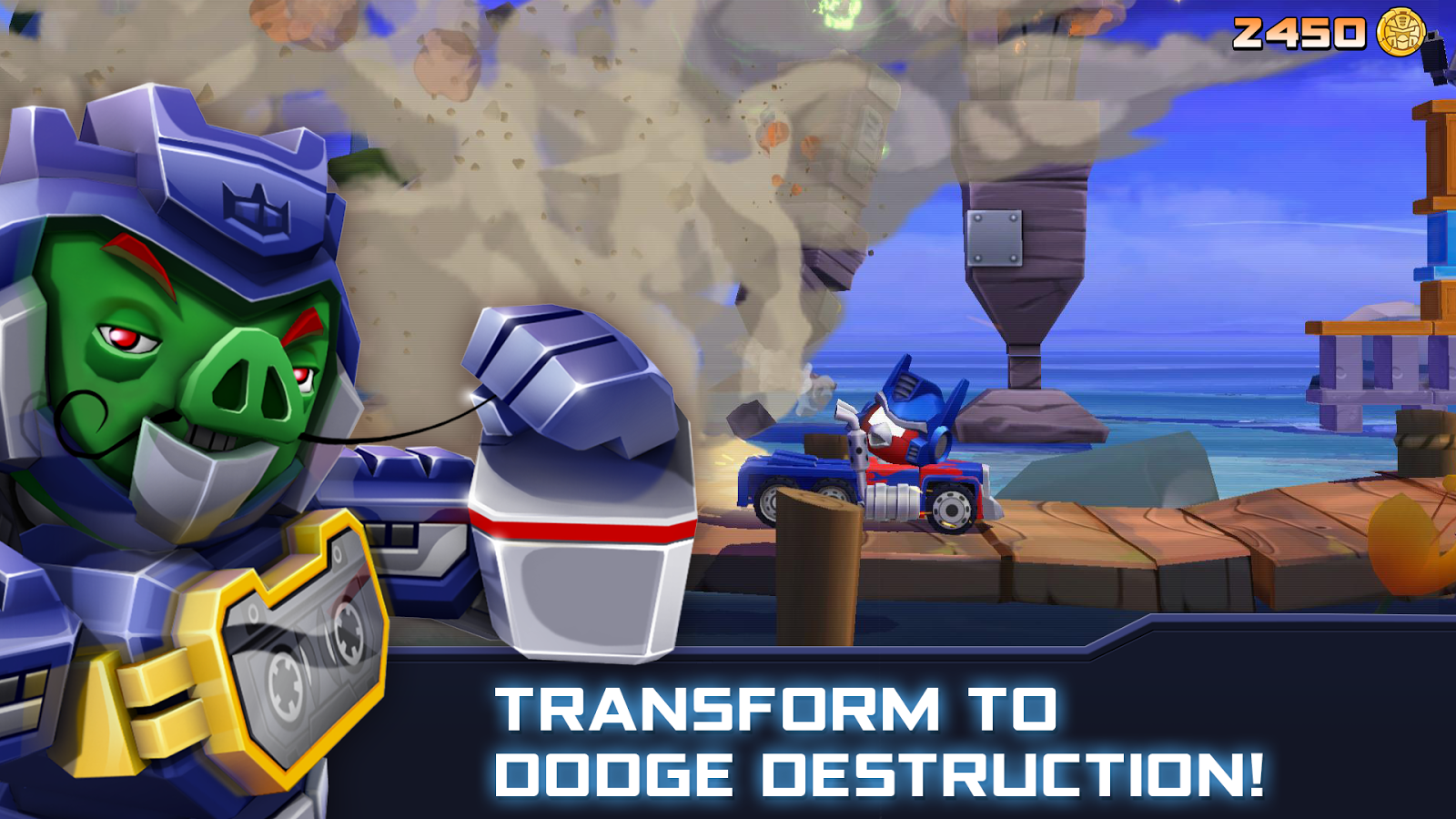 Screenshots of Angry Birds Transformers for iPhone