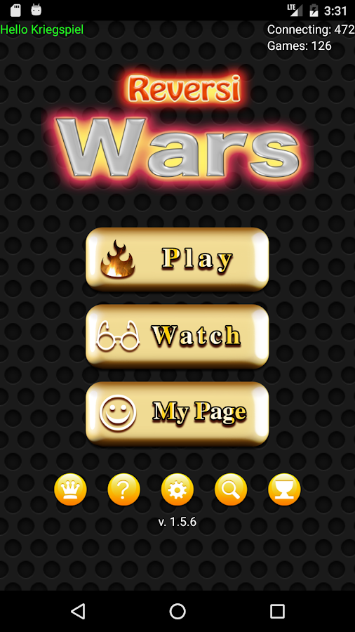 Reversi Wars - live online- screenshot