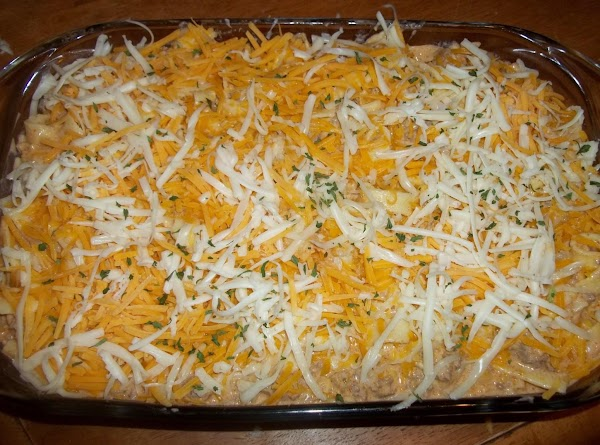 Sprinkle remaining monterey jack and cheddar cheese on top.  Bake for 45 to 50 minutes,...