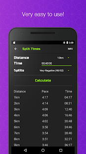 RunCalc+ Running Calculator Pace Speed Split Times - náhled