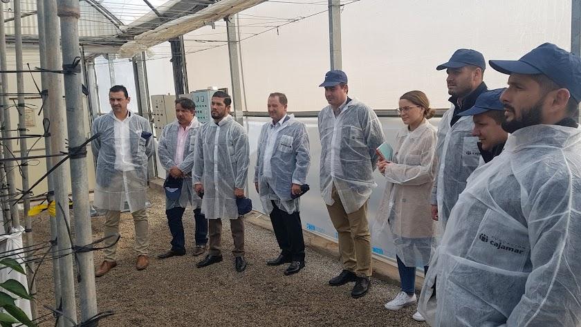 Varios representantes de Ecuador durante su visita.